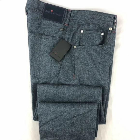 Kiton Other - Kiton Wool Midnight Blue Pant 34x34 NWT